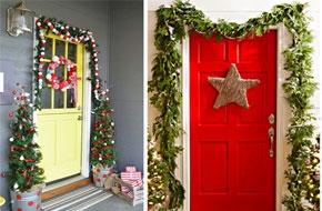Karácsonyi ajtódekoráció
